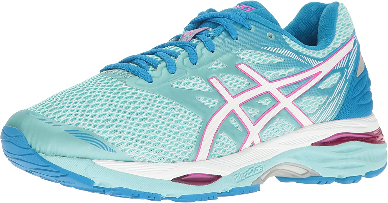 ASICS Women's Gel-Cumulus 18 Running Shoe, Aqua Splash/White/Pink Glow, 5  2A US: Amazon.ca: Shoes & Handbags