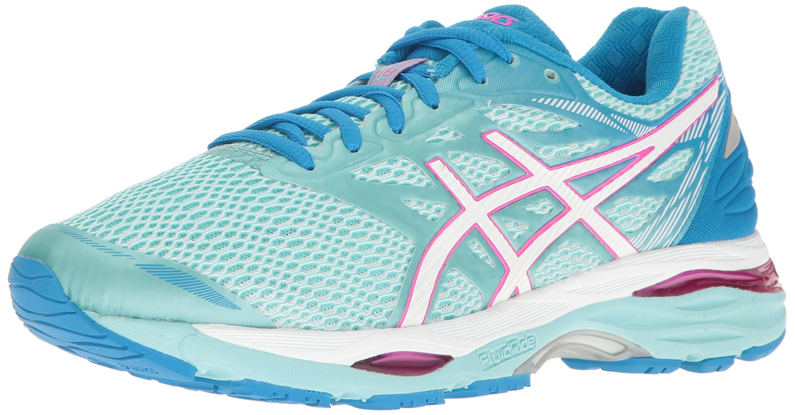 ASICS Women's Gel-Cumulus 18 Running Shoe, Aqua Splash/White/Pink Glow, 7.5 M US
