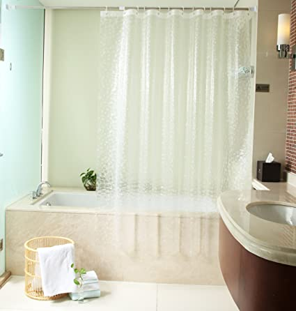 Uforme Extra Wide EVA Shower Curtain Liner Water Repellent And Mildew Resistant 86quot X