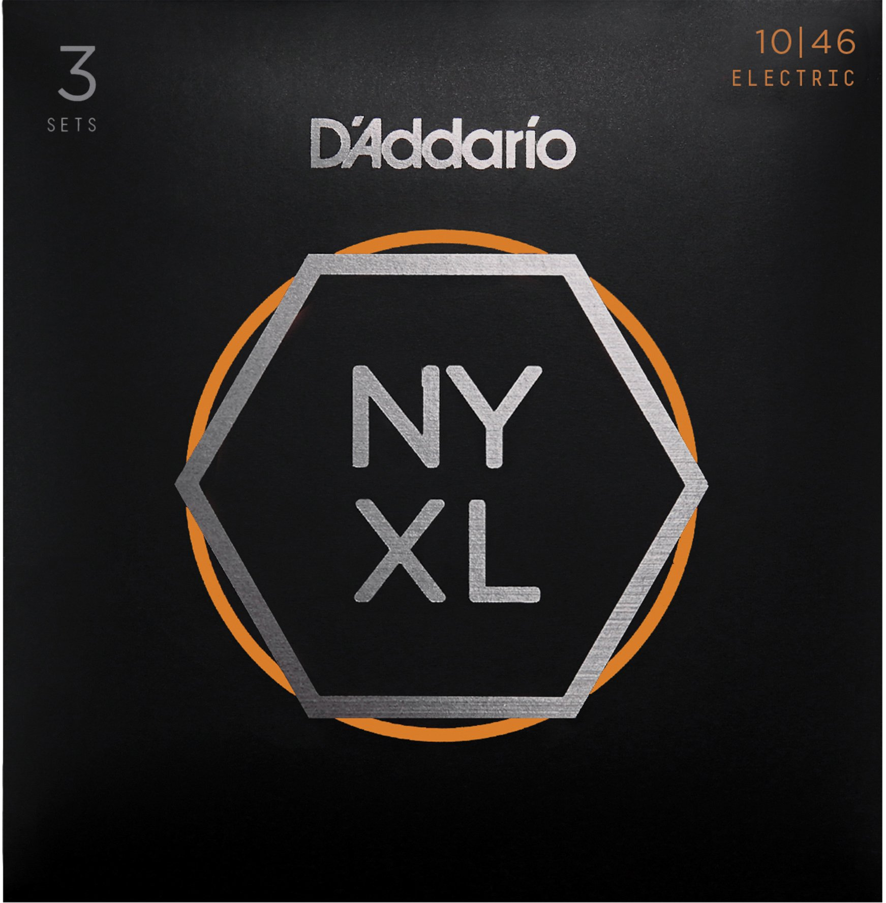 D'Addario NYXL1046-3P Nickel Plated Electric Guitar Strings, Regular Light,10-46 (3 Sets) – High Carbon Steel Alloy for Unprecedented Strength – Ideal Combination of Playability and Electric Tone by D'Addario (Image #1)