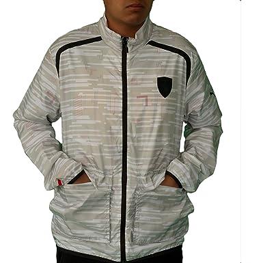 Puma Mens Ferrari Lightweight Jacket Medium White