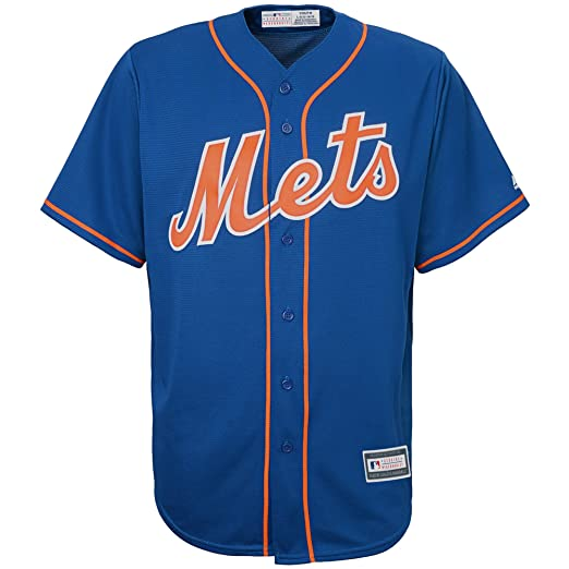 2ad12cab4 Outerstuff New York Mets Blank Blue Youth Cool Base Alternate Replica Jersey  (Small 8)