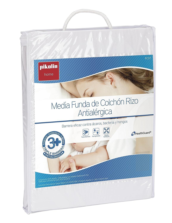 Pikolin Home - Protector de colchón rizo, antialérgico, antiácaros, antibacterias y antimoho, 80 x 190/200 cm, cama 80 (Todas las medidas): Amazon.es: Hogar
