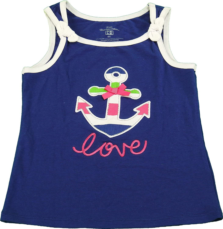 Kids Headquarters Girls Size 6X Summer Tank Top Navy Blue//Multi