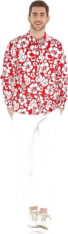 Matching Father Son Hawaiian Luau Outfit Men Shirt Boy Shirt Shorts PW Red Sunset