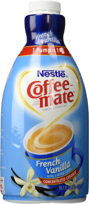 Coffee Mate French Vanilla Liquid Coffee Creamer 1.5 Liter Pump Dispenser