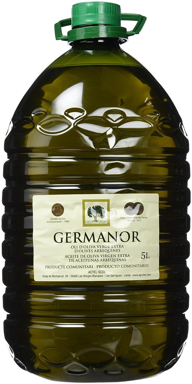 Germanor - Aceite Oliva Virgen Extra de Aceitunas Arbequinas - 5 L