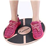 Sportneer Wooden Balance Board Wobble Platform for Exercise, Gym, Sport Performance Enhancement, Rehab, Training