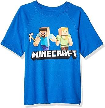 Marvel Boys Boys Minecraft Steve and Alex on The Go T-Shirt Short Sleeve T-Shirt