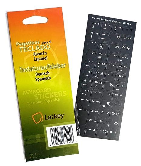 Pegatinas de Teclado en español/alemán para PC, computadora portátil, teclados de computadora