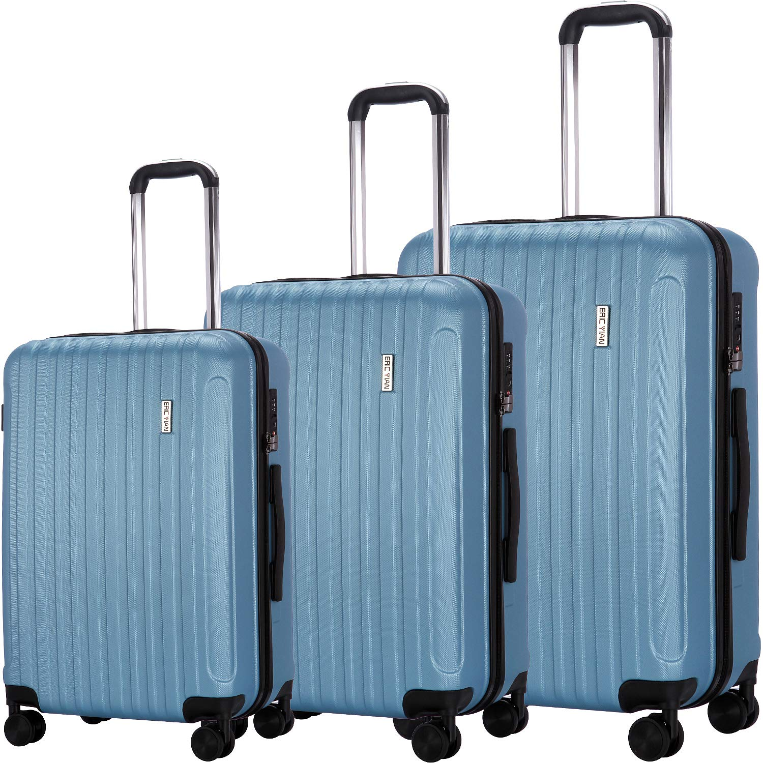 Luggage Set 3 Piece Suitcase ABS Trolley Spinner Hardshell Lightweight Suitcases TSA by ERIC YIAN