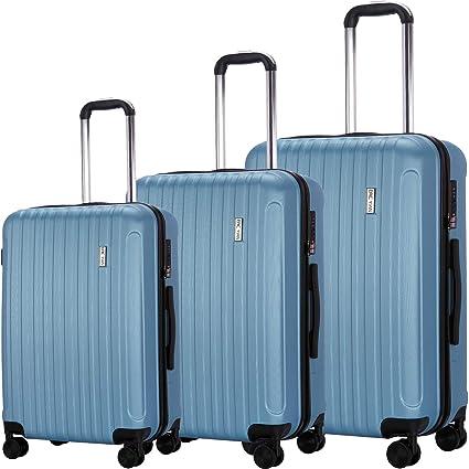 Amazon.com: Juego de maletas de 3 piezas, maleta con ruedas ...