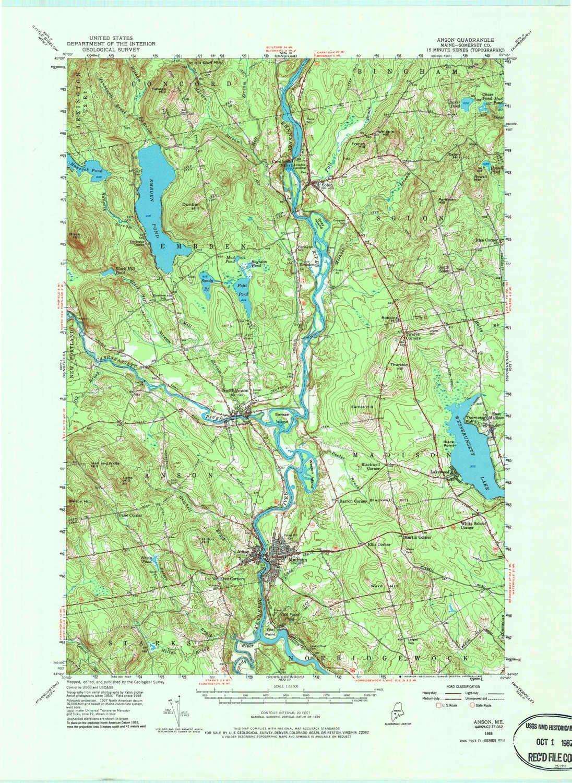 Amazon.com: YellowMaps Anson ME topo map, 1:62500 Scale, 15 X 15 ...
