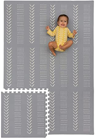 Interlocking Floor Tiles Soft Foam Baby Play Mat Extra Thick Non-Toxic