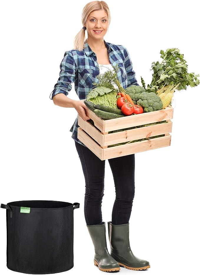 GardenMate® 5X 60l Sacos para Plantas de Malla geotextil ...