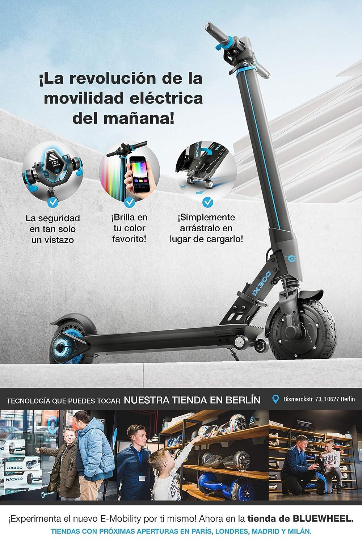 ¡Novedad 2019! Patinete eléctrico Scooter IX300 de Bluewheel con App Smartphone,LED Multicolor,Bluetooth,LCD Display, batería Li-Ion de hasta 20 km*. ...