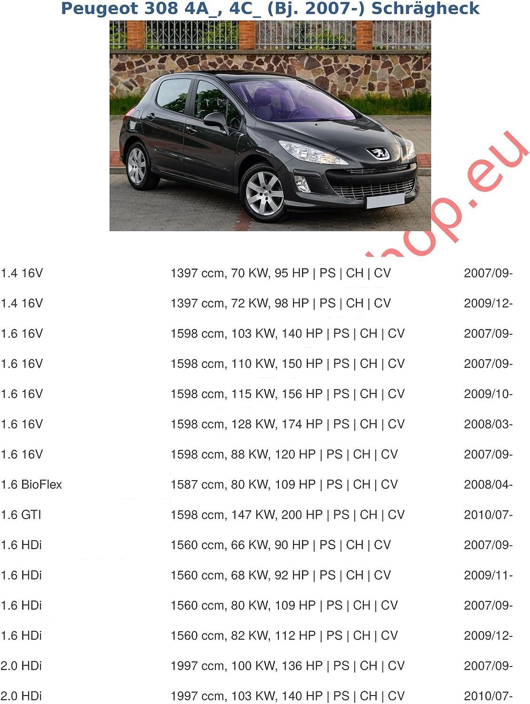 mit angeschraubtem Kugelkopf starr AHK Anh/ängerkupplung mit Elektrosatz 7 polig f/ür Peugeot 307 2001-2007 Schr/ägheck Anh/ängevorrichtung H/ängevorrichtung