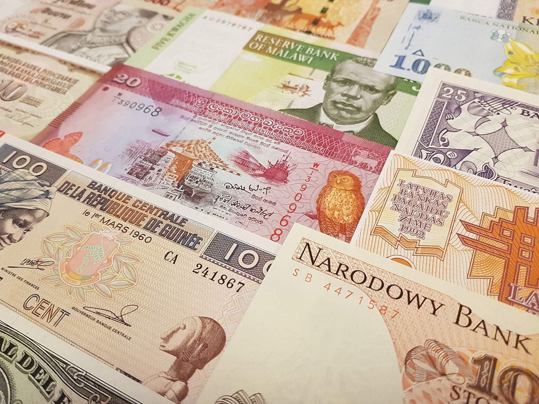 And Cambodia Bhutan Burundi Lot Of 5 Uncirculated Banknotes China
