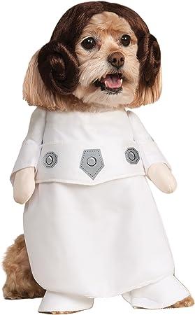 Amazon.com: Disfraz de princesa Leia de Rubies para mascota ...