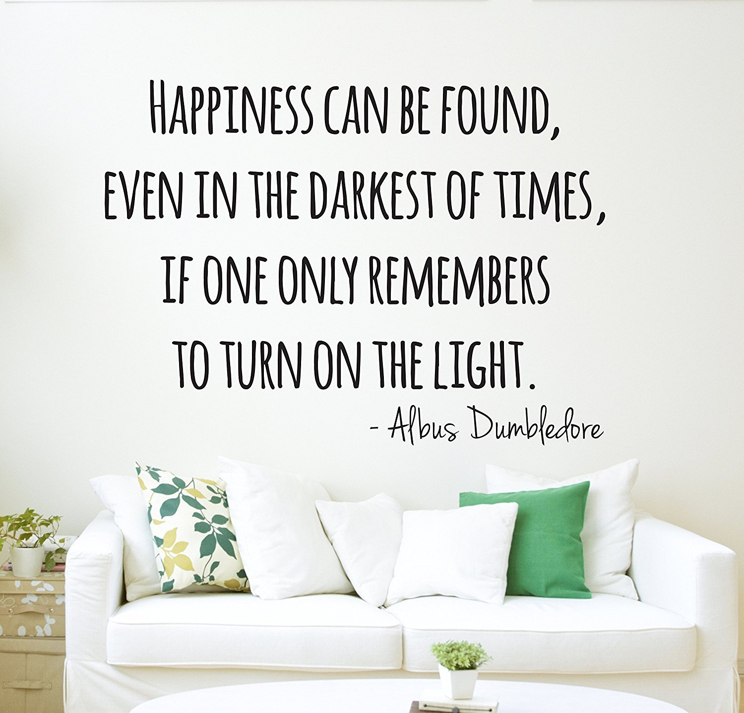 Harry Potter Wall Decal Dumbledore Quote Happiness Wall Decal   Wall Decor    Vinyl Wall Decal     Amazon.com