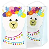 Juvale 15-Pack Boho Llama Party Favor Bags for Fiestas and Birthday Parties, 9 x 5 x 3.5 Inches