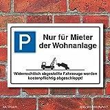 Schild 15x20cm Bohrl/öcher Aufkleber Hartschaum Aluverbund -S00243 30x20cm und 45x30cm Parkplatzschild Parken Nur f/ür Mieter
