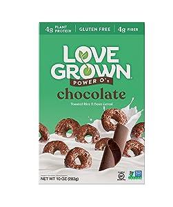 Love Grown Chocolate Power O's, 10 oz. Box