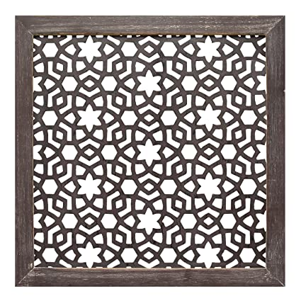 Amazon.com: Stratton Home Decor S01938 1Piece Framed Laser-Cut Wall ...