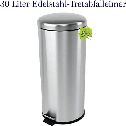 30 litros Acero inoxidable Cubo de basura, Aperitivo - Cubo ...