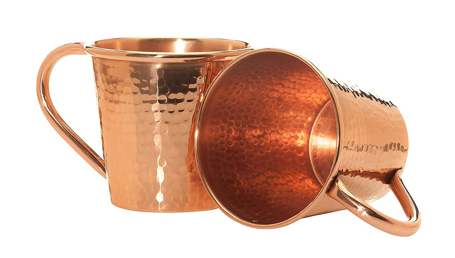 Sertodo Copper Moscow Mule Mug, 12 Fluid Ounce, Hammered Copper, Set of 2 CMMc-12-2