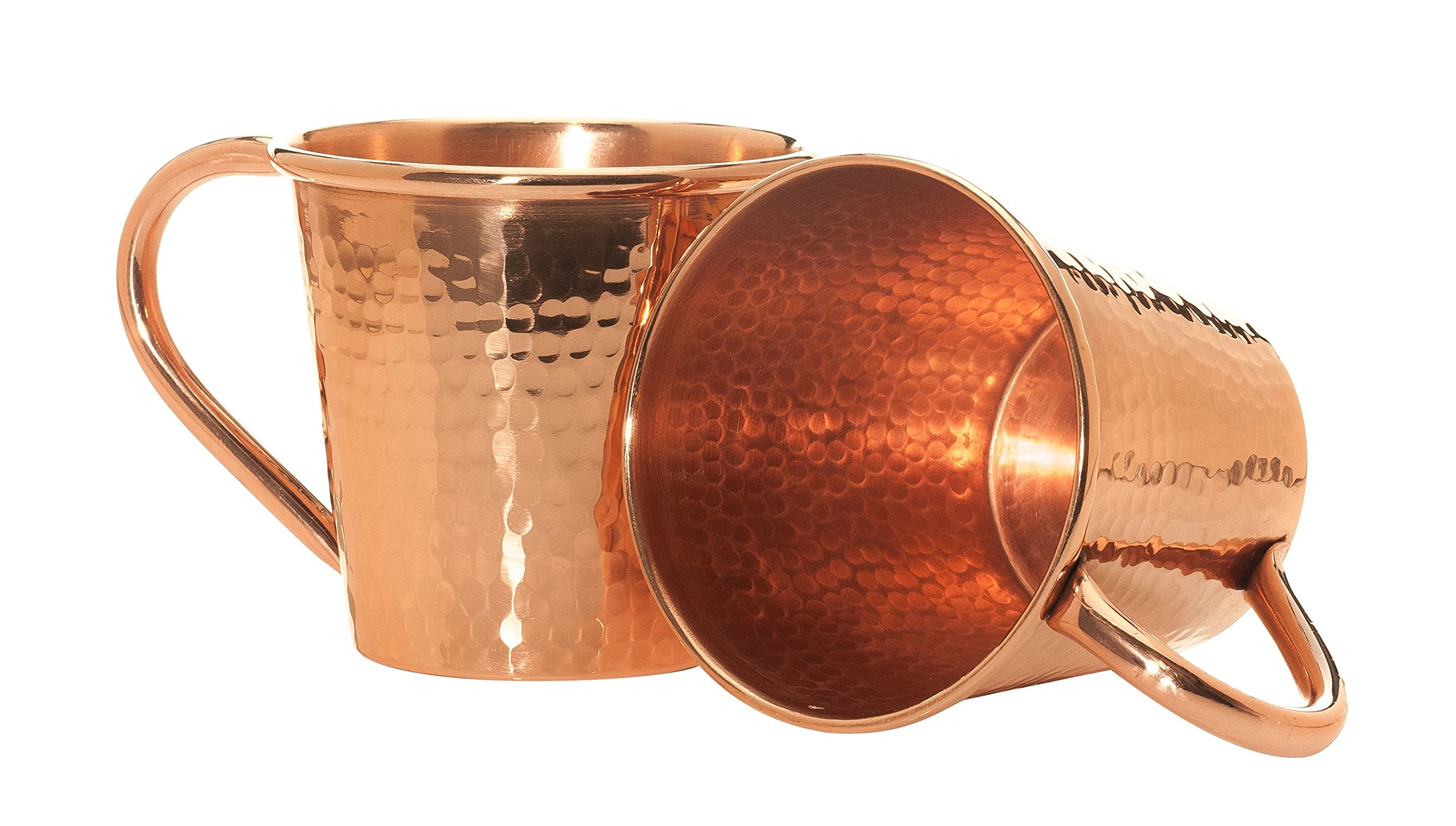 Sertodo Copper CMMc-12-2 Moscow Mule Mug, Hand Hammered 100% Pure Copper, 12 oz, Set of 2
