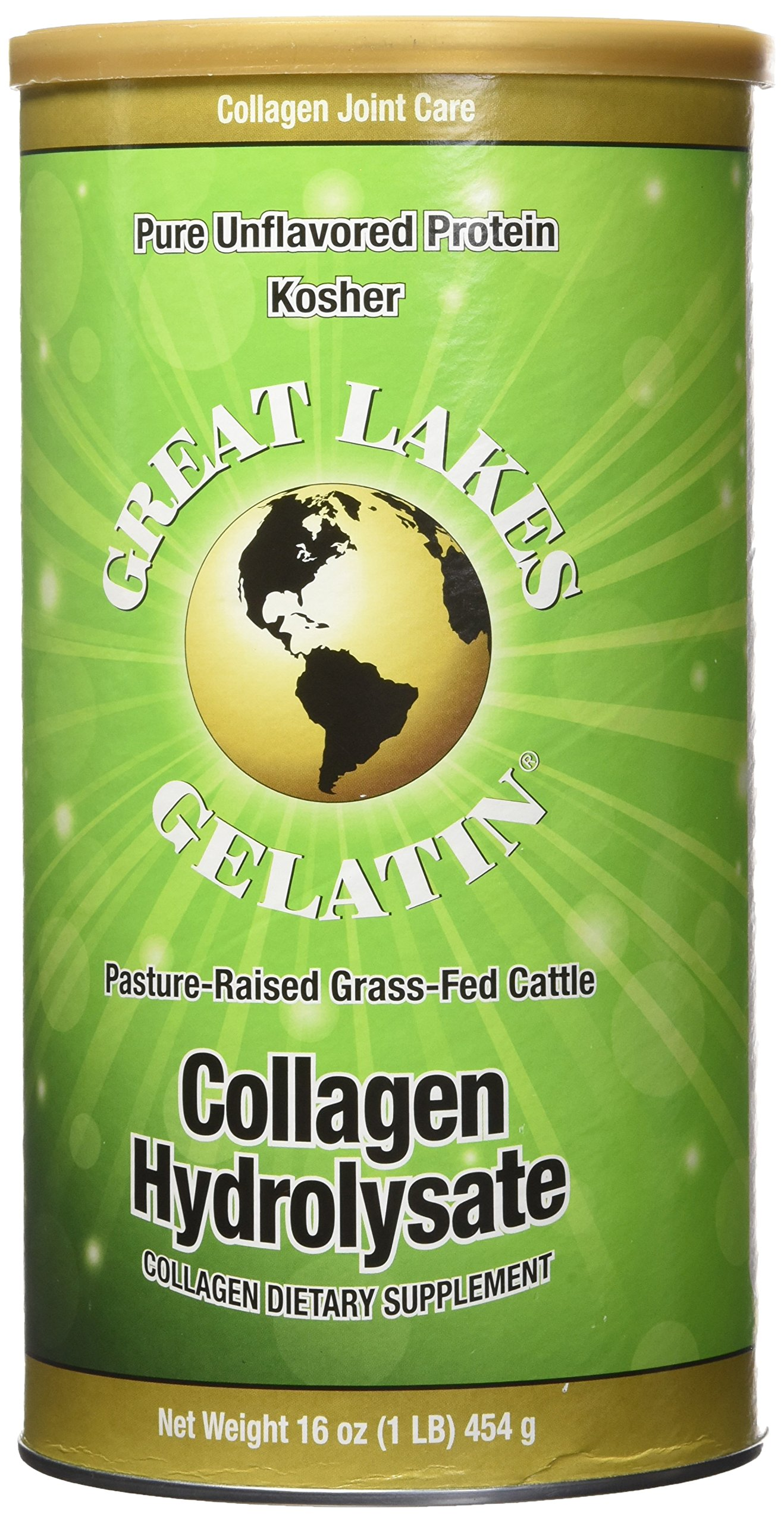Great Lakes Gelatin Collagen Hydrolysate Kosher, 16 oz