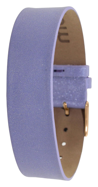 Moogパリパープルファブリック女性用ブレスレット、サテン、パターン、ピン留め金18 mmバンド – ts-61rg  B01HQ8WJLQ
