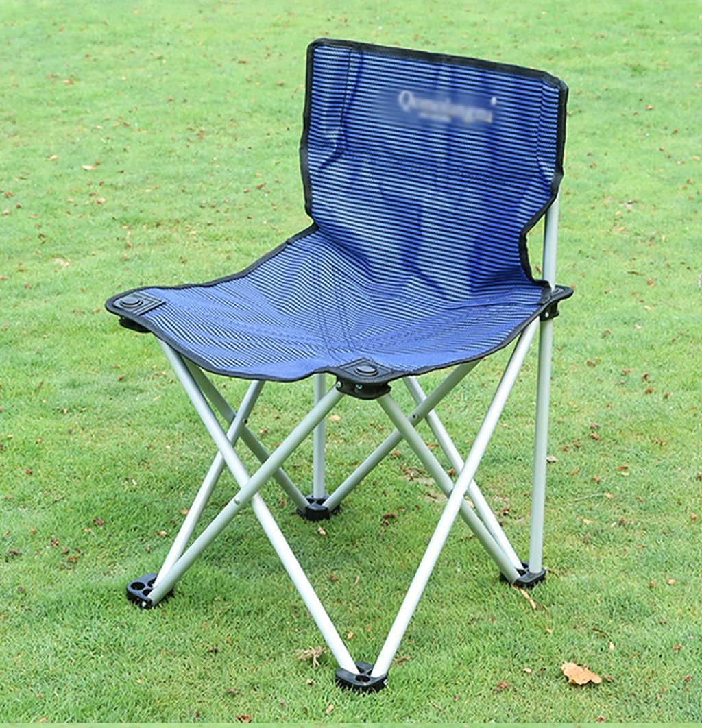 Y HWZDY Camping klappstuhl Camping Stuhl/Outdoor Klappstuhl, Angeln Freizeit Stuhl, Atmungsaktive Feste Portable Beach Chair, (Farbe : Blau)