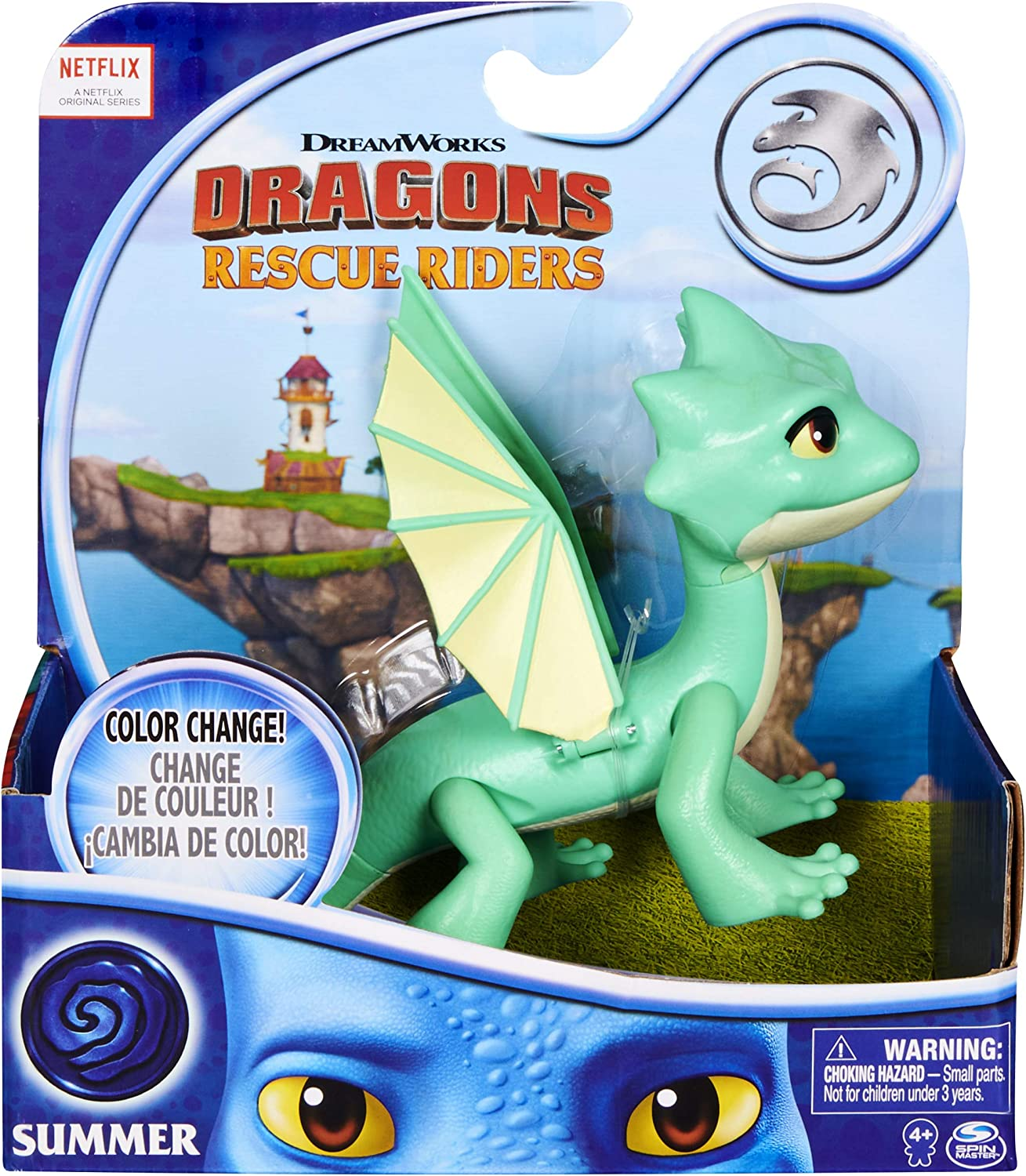 HOW TO TRAIN YOUR DRAGON NETFLIX DRAGONS RESCUE RIDERS AGGRO LIGHTS UP FIGURE