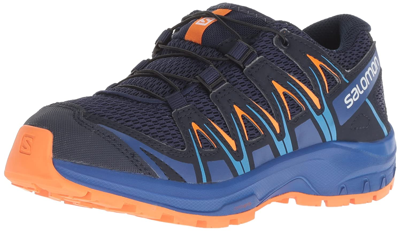 Salomon Xa Pro 3D J Trail Running Shoe B079MFYHP5 2 Child US Medieval Blue/Mazarine Blue Wild/Tangelo