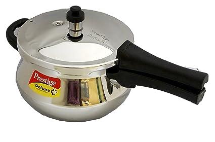 Prestige Deluxe Plus Mini Induction Base Stainless Steel Pressure Handi, 3.3 Litres (20139)
