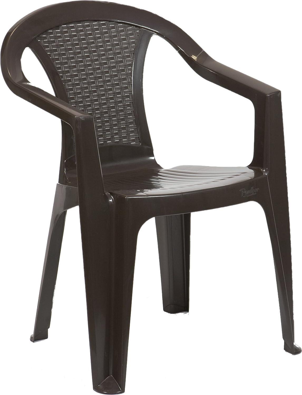 bica Pasadena Sedia Monoblocco, Plastica, Beige 144757 sedie; impilabili