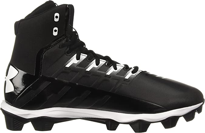 White New Under Armour UA Renegade MC Mid Mens Football Cleats Black WAS 99