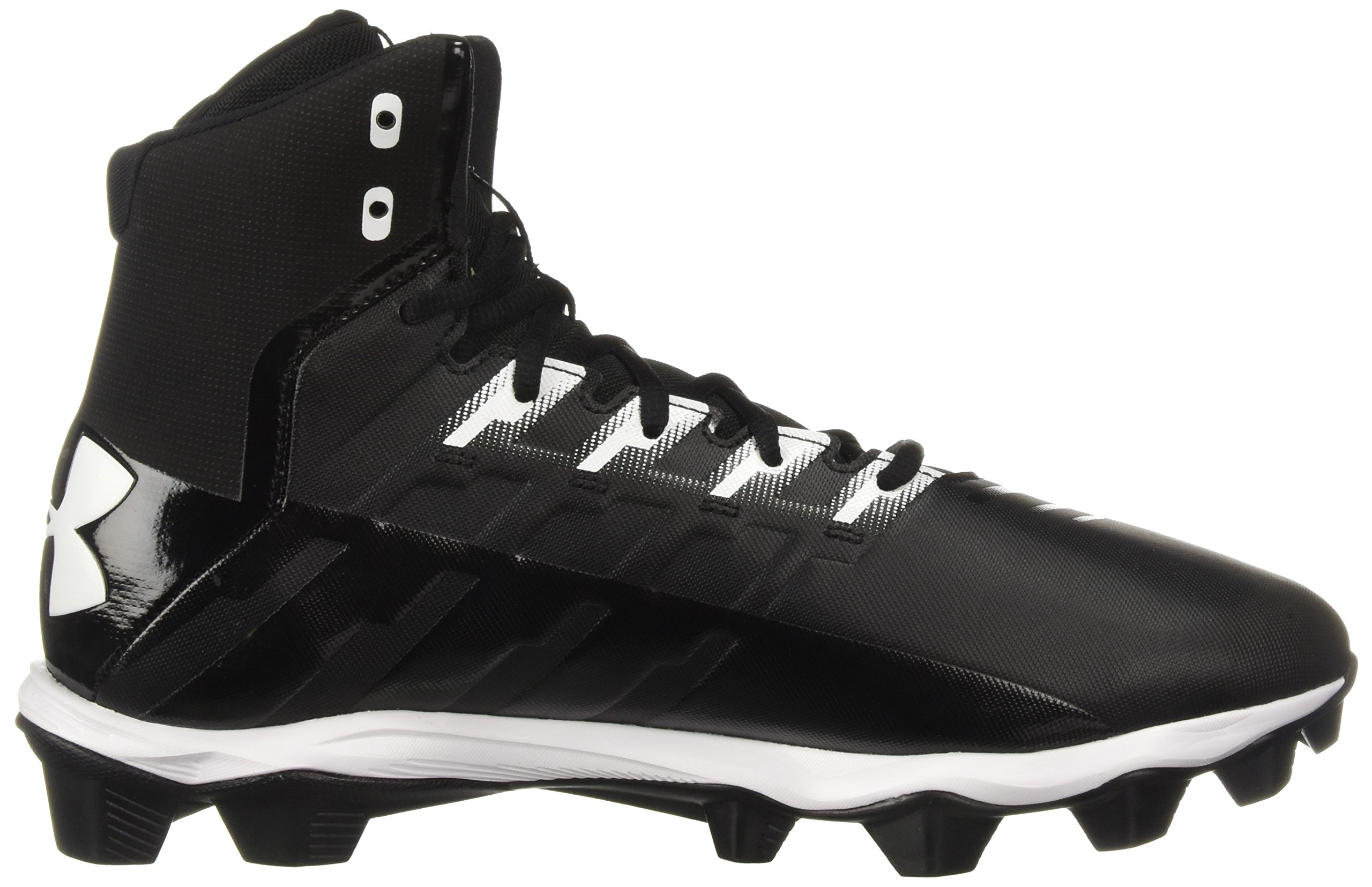 Under Armour Men's Renegade RM Wide Football Shoe 002/Black, 11 W US by Under Armour (Image #6)