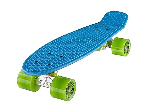 55 opinioni per Ridge Skateboards 22 Mini Cruiser Skateboard, Blu/Verde