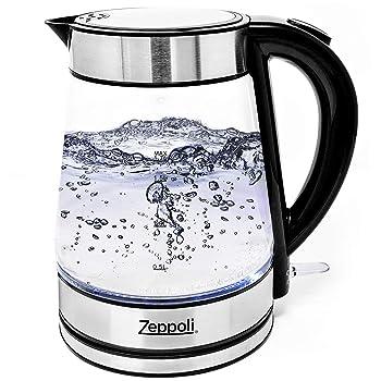 Zeppoli Electric Kettle – Glass Tea Kettle (1.7L)