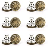 12 Pcs Metal Jean Buttons Metal Copper No-Sew Instant Tack Adjustable Detachable Replacement Pants Button Craft…