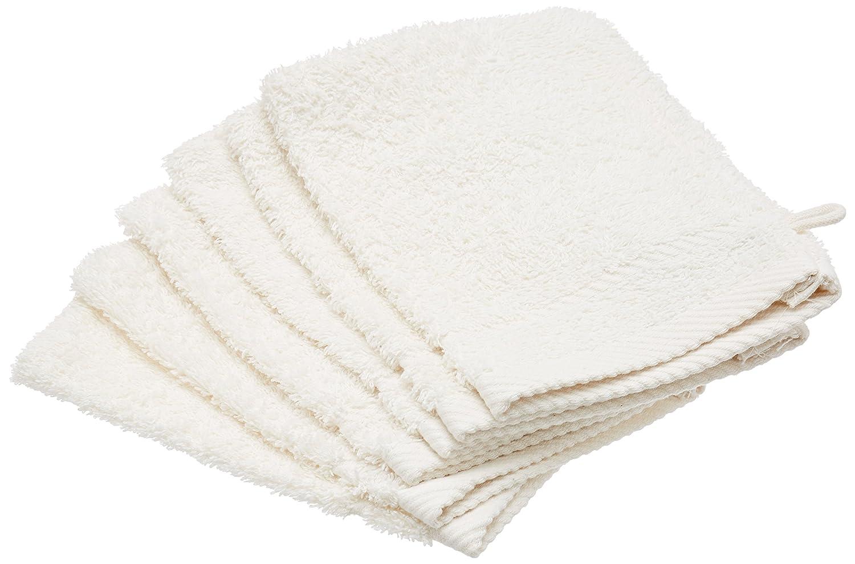 De Witte Lietaer Collection H 6Stück Waschlappen, Baumwolle beige Taupe 15x 21cm 204755