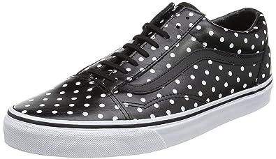 45ac6d6857cb Vans Women Old Skool - Leather Polka Dots (black) Size 5.5 US