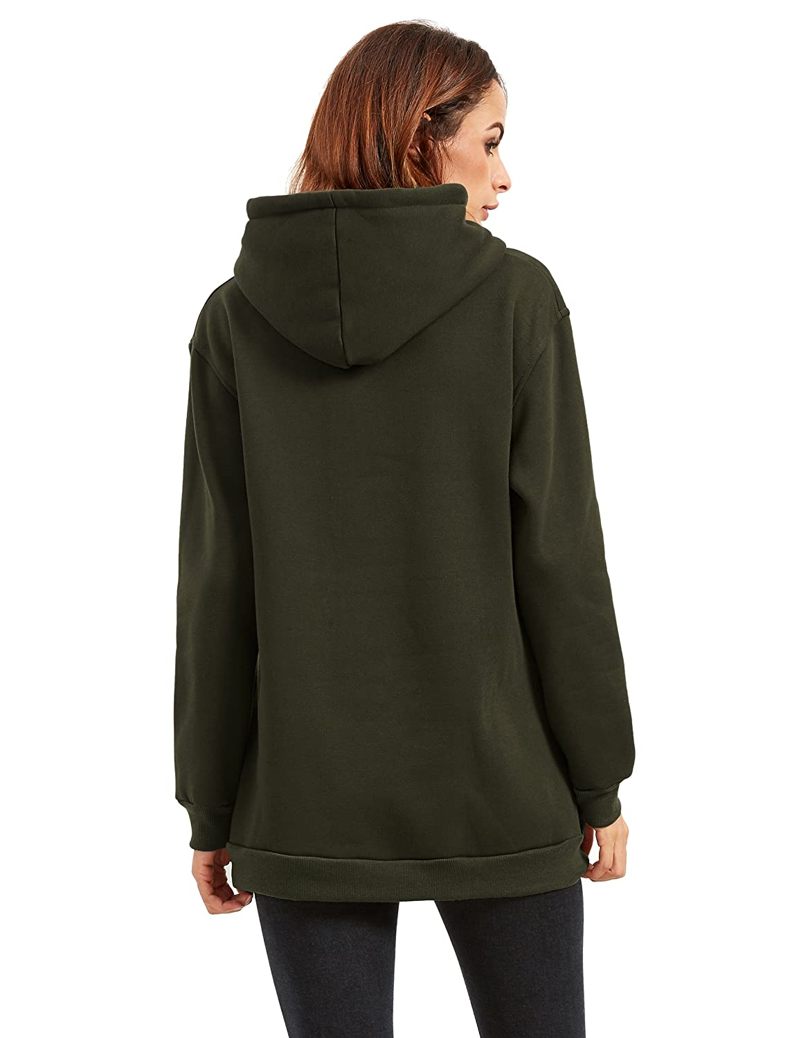 9f166f12d19ca9 SheIn Women's Long Sleeve Zipper Loose Pullover Hoodie at Amazon Women's  Clothing store: