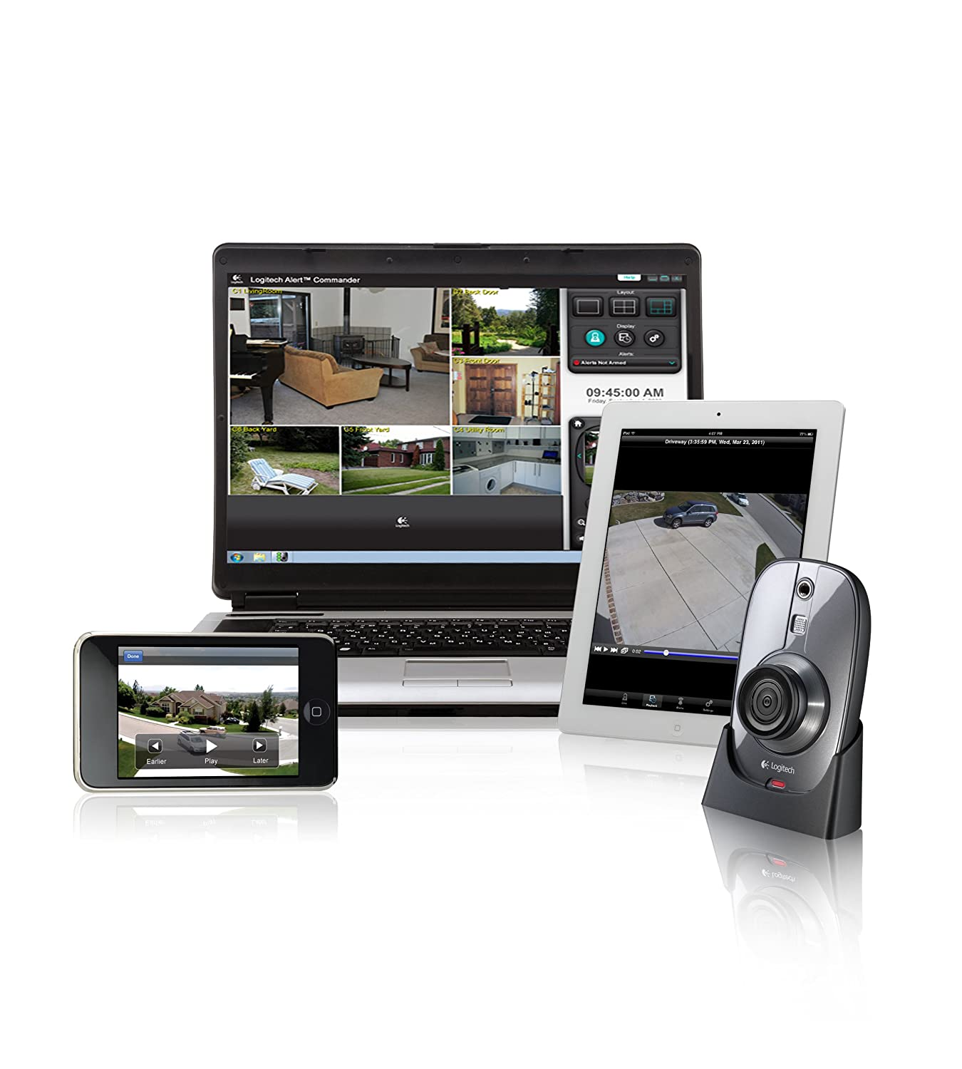 cfb77cd88ce Amazon.com: Logitech Alert 750i Indoor Master - HD-Quality Security System:  Home Improvement