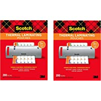 $39 » Scotch Thermal Laminating Pouches, 3 Mil Thick, Durable, Clean Finish, Professional Quality, 8.9 x 11.4 Inches, Letter Size Sheets, 200-Pack, Clear…