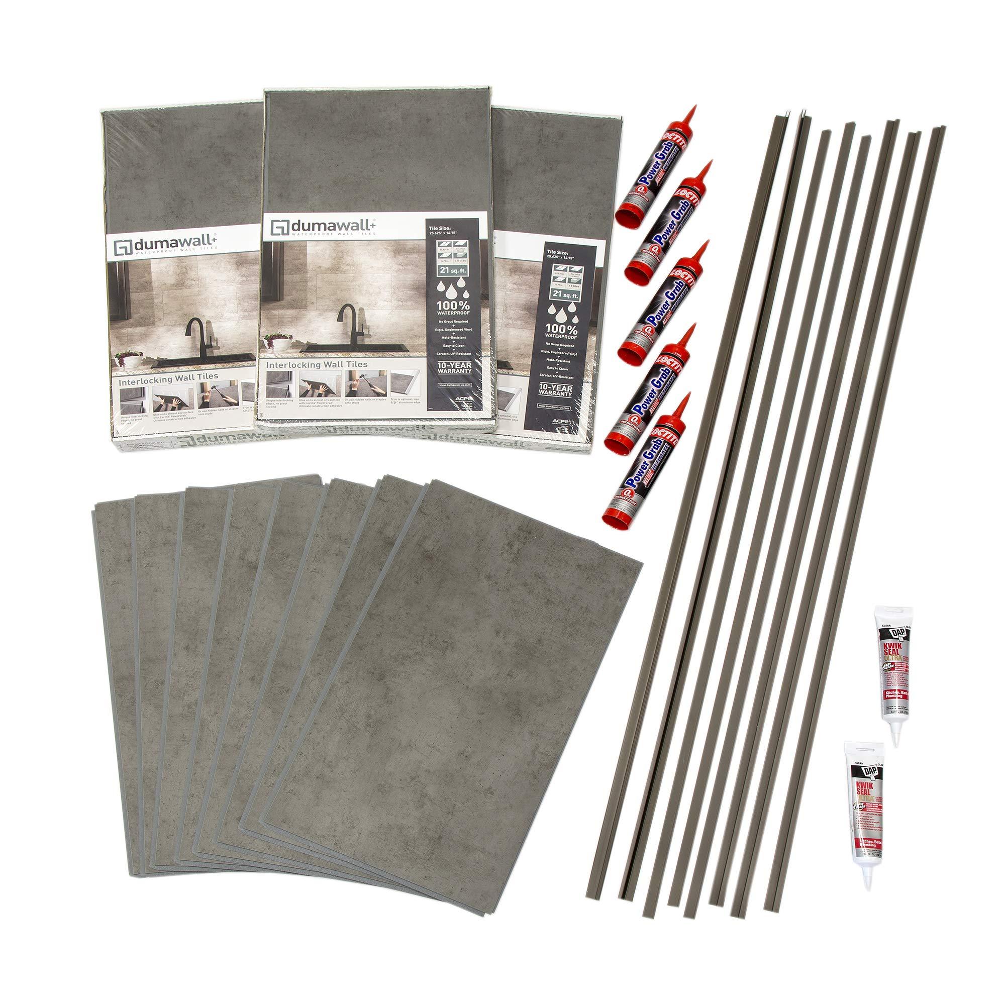 DumaWall Shower and Tub Surround Kits (Steel Wool)