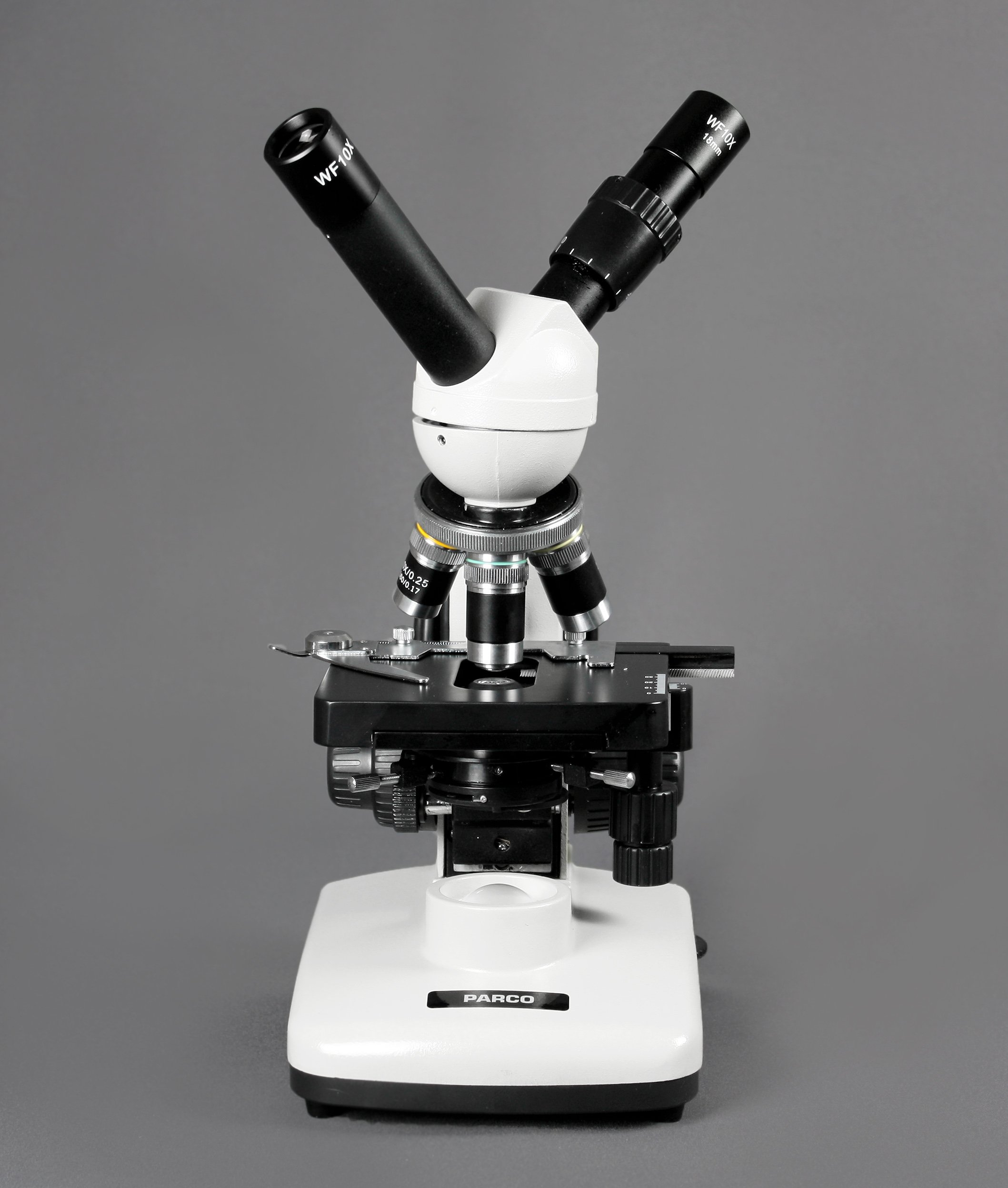 Parco Scientific PBS-500 Dual View Compound Microscope, 10x WF Eyepiece, 40x—1000x Magnification, LED Illumination, 1.25 NA Abbe Condenser, Coaxial Coarse & Fine Focus, Mechanical Stage by Parco Scientific (Image #2)
